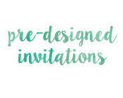 pre designed invitations